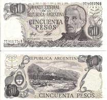 Argentina P301. 50 Pesos, General San Martin / Termes De Reyes Rapids, UNC 1976 - Argentina
