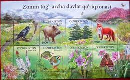Uzbekistan  2018  Fauna  Flora  Zomin Nature Reserve  M/S    MNH - Usbekistan