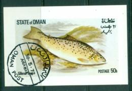 Oman State Of 1972 Fish, Trout MS CTO - Oman