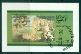 Oman State Of 1973 Painting, Boticelli Venus IMPERF MS CTO - Oman