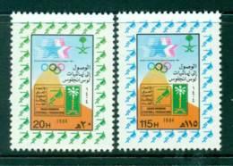 Saudi Arabia 1984 Soccer Olympic Team MUH Lot26760 - Saudi Arabia