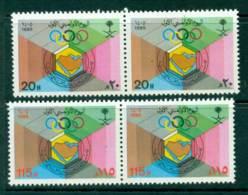 Saudi Arabia 1985 Gulf Olympics Day Pair MUH Lot26758 - Saudi Arabia