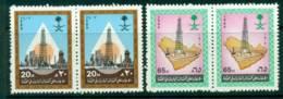 Saudi Arabia 1986 Discovery Of Oil Pair MUH Lot26783 - Saudi Arabia