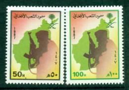 Saudi Arabia 1987 Afghan Resistance MUH Lot26788 - Saudi Arabia