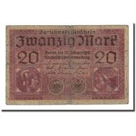 Billet, Allemagne, 20 Mark, 1918-02-20, KM:57, B - [ 2] 1871-1918 : Empire Allemand