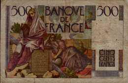 BANQUE DE FRANCE   BILLET DE 500 F  1946 - 1871-1952 Circulated During XXth