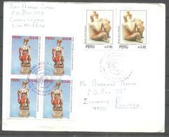 USED AIR MAIL COVER PERU TO PAKISTAN - Peru