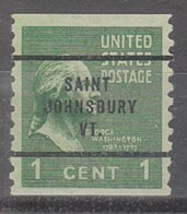 USA Precancel Vorausentwertung Preo, Bureau Vermont, Saint Johnsbury 839-63 - Vereinigte Staaten