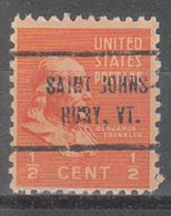 USA Precancel Vorausentwertung Preo, Locals Vermont, Saint Johnsbury 714 - Vereinigte Staaten