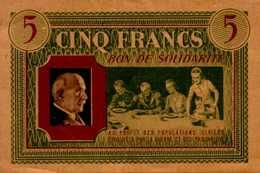 BON DE SOLIDARITE..CINQ FRANCS... - Bonds & Basic Needs