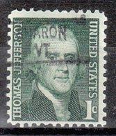 USA Precancel Vorausentwertung Preo, Locals Vermont, Sharon 841 - Vereinigte Staaten