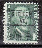 USA Precancel Vorausentwertung Preo, Locals Vermont, Sheldon 841 - Vereinigte Staaten