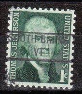 USA Precancel Vorausentwertung Preo, Locals Vermont, South Barre 841 - Vereinigte Staaten
