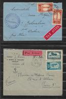 Colonie 3 Belles Lettres Du Maroc Par Avion - Morocco (1891-1956)