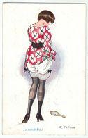 Illustrateur F.Fabiano // Femme érotique, Froufrou, Les Petites Superstitions Série No. 25-126 - Fabiano