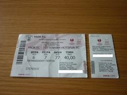 PAOK-Tottenham Hotspur UEFA Europa League Football Match Ticket Stub 15/09/2011 - Match Tickets