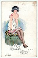 Illustrateur F.Fabiano // Femme érotique, Froufrou, Sièges Féminins, Série No.27-131 - Fabiano