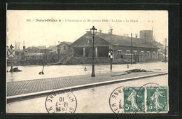 CPA Saint-Dizier, L'Inondation De 20 Janvier 1910, La Gare, Inondation Am La Gare - Saint Dizier