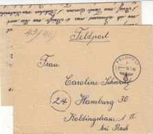 Feldpost Von Der FP Nr. 12200 - II SS Pz.Korps 18.7.44 Normandie / Unten Einriss - Deutschland