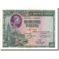 Billet, Espagne, 500 Pesetas, 1928, 1928-08-15, KM:77a, SUP - 500 Pesetas