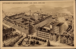Cp Jena In Thüringen, Optische U. Mechanische Werke Carl Zeiss, 1922, Vogelansicht - Alemania