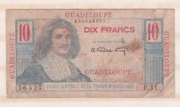Guadeloupe, 10 Francs (1947), Caisse Centrale De La France D Outre Mer - France