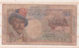 Guadeloupe, 50 Francs (1947), Caisse Centrale De La France D Outre Mer - France