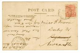 NSW 1d Red Postage Stamp CDS 'TELEGRAPH POINT NSW / 3 AP 1909' On Milson Point Ferry, Sydney, Postcard - Cartas