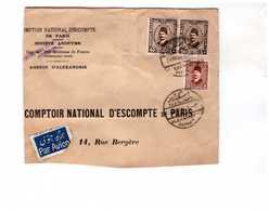 Lettre1934 Egypte Alexandrie à Destination France CNEP 3 Timbres Tarif Affranchissement 85 Mils - Egypt