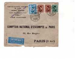 Lettre1934 Egypte Alexandrie à Destination France CNEP 4 Timbres Tarif Affranchissement 28 Mills - Egypt