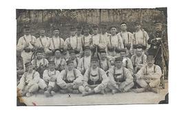 Carte Photo, Groupe Militaires, Guerre 14/18 ,Fusils,Officier - Guerre 1914-18