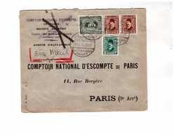 Lettre1933 Egypte Alexandrie Alexandria Destination France CNEP 4 Timbres Tarif Affranchissement 33 Mills - Egypt