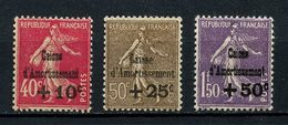 FRANCE 1930 N° 266/268 ** Neuf MNH Superbes C 420 € + Caisse D' Amortissement Semeuse - Unused Stamps