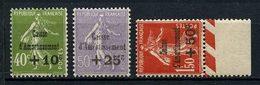 FRANCE 1931 N° 275/277 ** Neufs MNH Superbes C 235 € + Caisse D'amortissement Semeuse - Unused Stamps