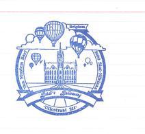 Stempel Stamp  Ballon Sint Niklaas - Ballooning - City Hall - Ballons Balonnen - Transportation