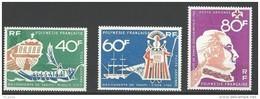 "Polynésie Aerien YT 22 à 24 (PA) "" Découverte De Tahiti "" 1968 Neuf** - Neufs"