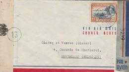 18/7/45 - Pli Par Avion Curaçao Vers Bruxelles ./ Double Censure : Curaçao + Censure USA - WW II
