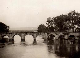 Photo Originale Pont De Fumay En 1931 - Mantes - Lieux