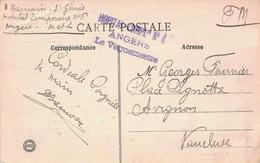 GUERRE 14-18 - HOPITAL COMPLre N°6 - ANGERS - MAINE ET LOIRE - LE VAGUEMESTRE. - Oorlog 1914-18