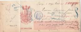 Lettre Change Chèque 11/3/1898 Jacey - Gilbert Avranches Manche, Carrière Bourg La Reine Cachet Fiscal Timbre Chèques - Cambiali