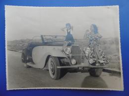AUTOMOBILE BUGATTI CABRIOLET PLAQUE MONACO PHOTO  23.5 X 17.5 Cm - Cars
