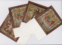 Schweiz Suisse Pro Patria 1965: Deckengemälde Der Kirche Zillis Zu 123-127 Mi 814-818 Yv 747-751 PK-Set O ZILLIS 1-6-65 - Lettres & Documents
