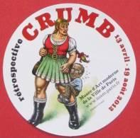 Crumb - Autocollant Promo Expo Paris 2012 - Stickers