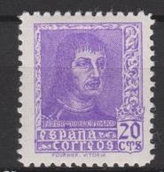 1938 FERNANDO EL CATÓLICO 20 CTS NUEVO*. 16 €. VER - 1931-50 Nuevos & Fijasellos