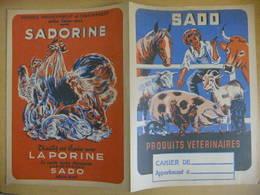 Année 60  1 Protège Cahier SADO Produits Vétérinaires - Maps