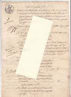1831 - Atto Di Cancelleria - Cortona - Manoscritti