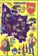 Francoise DAGUE Les Departements Francais Vue Par Theojac GIRONDE   Plan + Multivues RV - Maps