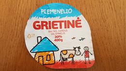 Lithuania Litauen Sour Cream  30% 400 G. - Milk Tops (Milk Lids)