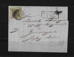 Altdeutschland Baden Brief Mannheim Geisingen 1860 - Baden