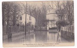 Belle CPA Saint-Maur (Val De Marne), Inondations De 1910, Villa Schacken, Rue Jules-Joffrin - Saint Maur Des Fosses